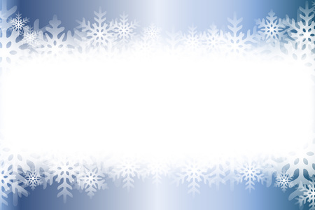Background material, blur, soft focus, snow crystals, rime, winter landscape, copy space, a white pulling out, outline, title.