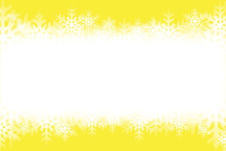 Yellow snowflakes pattern.