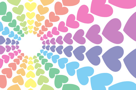 Colorful hearts pattern.