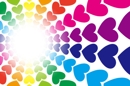 Background material, form, pattern, patterns, cute, colorful, rainbow, rainbow colors, happy, image. Иллюстрация