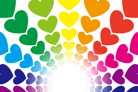 Background material, form, pattern, patterns, cute, colorful, rainbow, rainbow colors, happy, image.