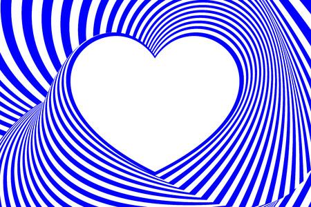 Heart abstract line pattern design. Illustration