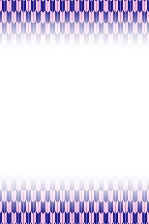 紫と青のフレッチングパターンデザイン
