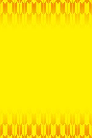 Yellow-colored fletching pattern design Ilustracja
