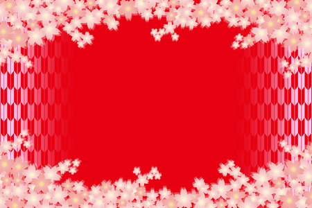 Material background wallpapers, cherry blossom, spring, enrollment, graduation, postcards, postcard templates, New Year's day, Japanese-style. Quinceanera, fletching, suiginto pattern. 일러스트