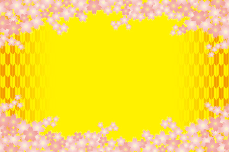 Material background wallpapers, cherry blossom, spring, enrollment, graduation, postcards, postcard templates, New Years day, Japanese-style. Quinceanera, fletching, suiginto pattern.