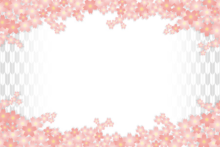 Material background wallpapers, cherry blossom, spring, enrollment, graduation, postcards, postcard templates, New Year's day, Japanese-style. Quinceanera, fletching, suiginto pattern. Stock Vector - 96069371