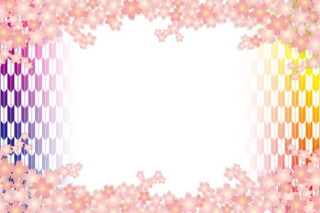 Material background wallpapers, cherry blossom, spring, enrollment, graduation, postcards, postcard templates, New Year's day, Japanese-style. Quinceanera, fletching, suiginto pattern. Stock Vector - 96069376