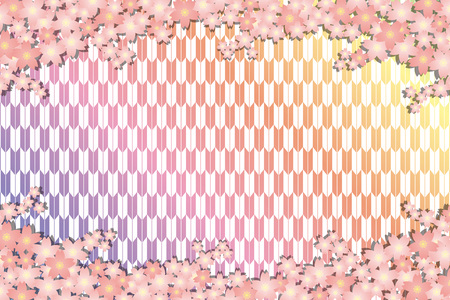 Background material wallpapers, cherry blossom, spring, enrollment, graduation, postcards, postcard templates, new years day, Japanese-style, Quinceanera, fletching, suiginto pattern Illustration