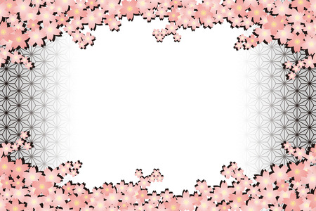 Background material wallpapers, cherry blossom, enrollment, graduation, postcards, postcard templates, new year's day, Japanese-style, adult, Japanese, hemp, new year