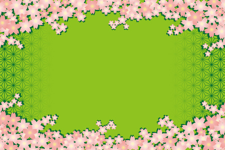 Background material wallpapers, cherry blossom, enrollment, graduation, postcards, postcard templates, new years day, Japanese-style, adult, Japanese, hemp, new year