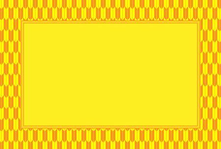 Rectangular frame with checkered border design. Çizim