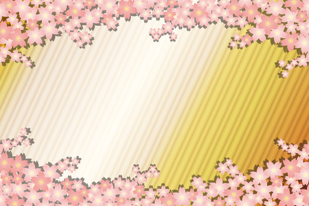 Background material wallpaper, spring, cherry blossom petals, bloom, trees, Sakura, Japanese, striped like, matriculation, graduation ceremony, celebration, celebrations, landscape Stock Vector - 97607132