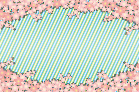 Background material wallpaper, spring, cherry blossom petals, bloom, trees, Sakura, Japanese, striped like, matriculation, graduation ceremony, celebration, celebrations, landscape Stock Vector - 97591655