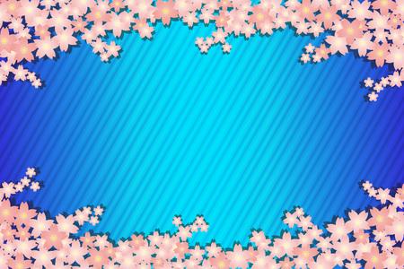Background material wallpaper, spring, cherry blossom petals, bloom, trees, Sakura, Japanese, striped like, matriculation, graduation ceremony, celebration, celebrations, landscape Stock Vector - 97591675
