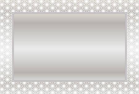 Metallic frame with ornamental design border. Illustration