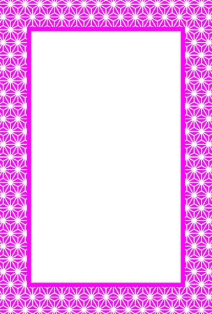Background wallpaper, Japanese, like hemp leaf, hemp, tradition, Ryu, photo frame, photo frame, posting, postcard template