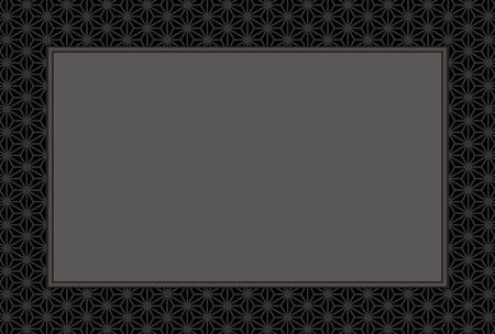 Background wallpaper, Japanese, like hemp leaf, hemp, tradition, Ryu, photo frame, photo frame, posting, postcard template.