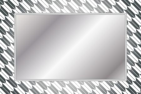 Gray and white frame vector illustration Illustration