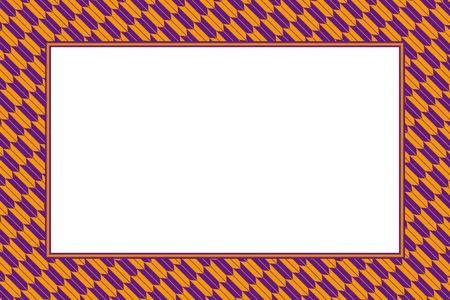 Orange and purple frame vector illustration