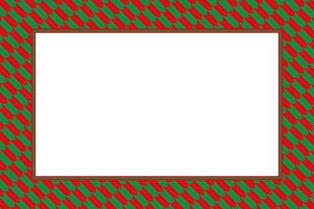 Green and red frame vector illustration Illustration