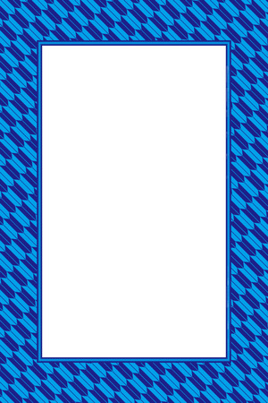Wallpaper material greeting templates, Blue photo frame Stock Vector - 99706494