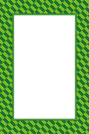 Wallpaper material greeting templates, green photo frame Illustration