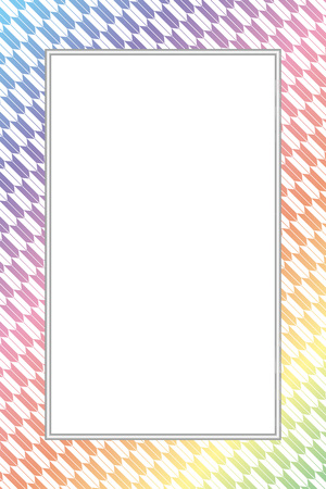 Seamless wallpaper material with rainbow color frame