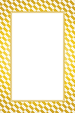 Wallpaper material with gold color frame Stock Vector - 103542272