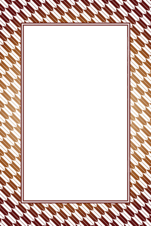 Wallpaper material with brown color frame Stock Vector - 103542303