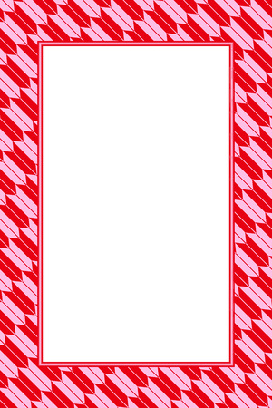 Wallpaper material, photo frame in red Stock Vector - 106188357