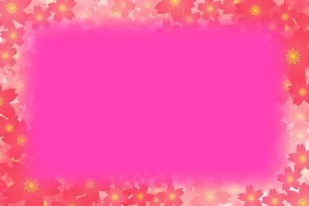 red floral border frame on color background. Vector illustration. Illustration