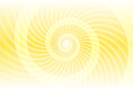 Yellow spiral abstract pattern design Ilustração