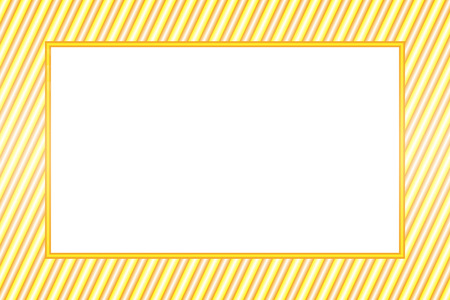 Wallpaper material greeting templates, yellow stripped photo frame