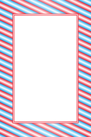 Wallpaper material greeting templates, pink and blue stripped photo frame