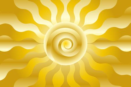 Background material with solar, Sun, sunlight design. Illustration
