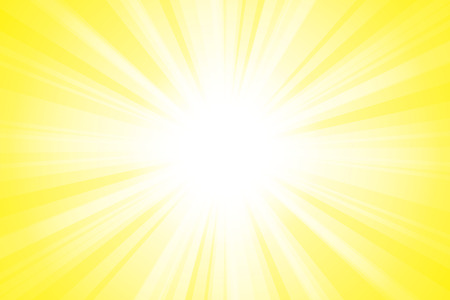 yellow Shining beam light background material Vector illustration.