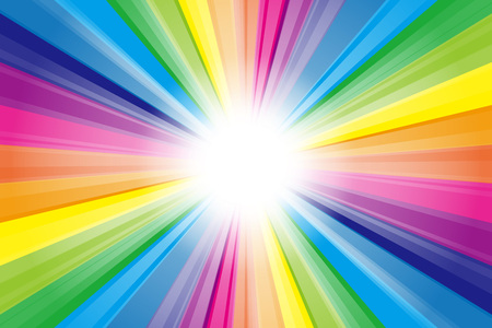 Background material, Rainbow, Rainbow, spectrum, sunlight, Sun, light, rays, light, shine, radiology, intensive line, beam Illustration