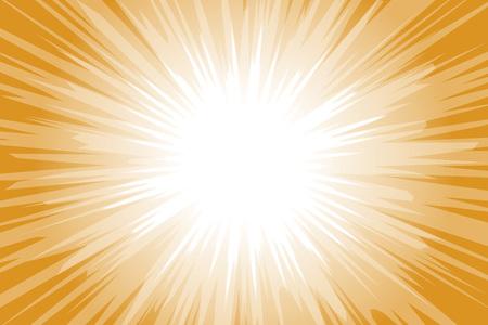 Fondo transparente naranja y blanco con rayos de luz. Ilustración de vector.