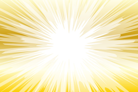 Gold and white seamless background with light rays. Vector illustration.