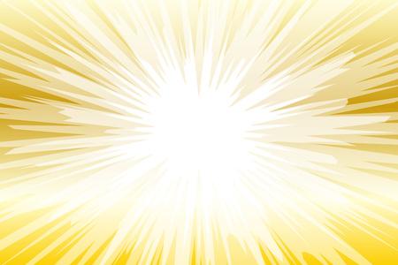 Fondo senza cuciture oro e bianco con raggi di luce. Illustrazione vettoriale. Vettoriali