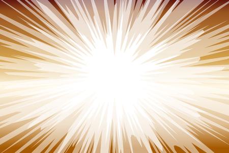 Fondo transparente marrón y blanco con rayos de luz. Ilustración vectorial.