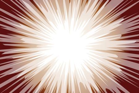 Fond transparent marron foncé et blanc avec des rayons lumineux. Illustration vectorielle.
