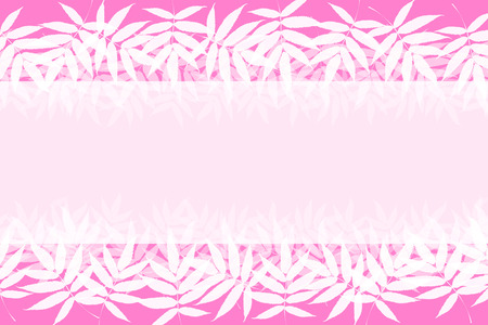 Background material, frame, summer, leaves, bright, Aoba, verdure, Tanabata decorations, outside, album title frame, copy space, Illustration