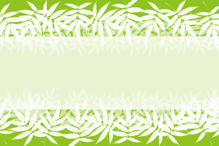 Background material, frame, summer, leaves, bright, Aoba, verdure, Tanabata decorations, outside, album title frame, copy space,  イラスト・ベクター素材