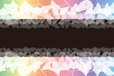 Background material, price tag, tag, copy space, like, pattern, leaves, autumn, leaves, Ginkgo biloba, Ginkgo, fallen leaves,