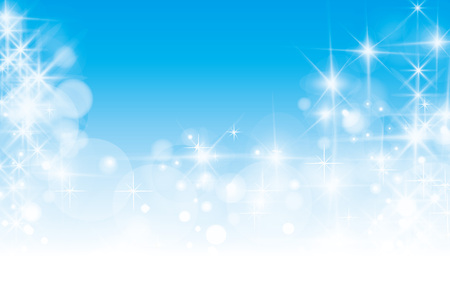 White clouds, night, fog, haze, soft-focus, copy space, milky way, starry sky, glittering, and blur the background material wallpaper, Illustration