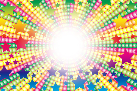 Background material, colorful, radiation, concentration line, rainbow color, rainbow color, fireworks, star mine, fun, party