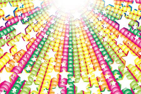 Materiale di sfondo, colorato, radiazioni, linea di concentrazione, colore dell'arcobaleno, colore dell'arcobaleno, fuochi d'artificio, miniera di stelle, divertimento, festa