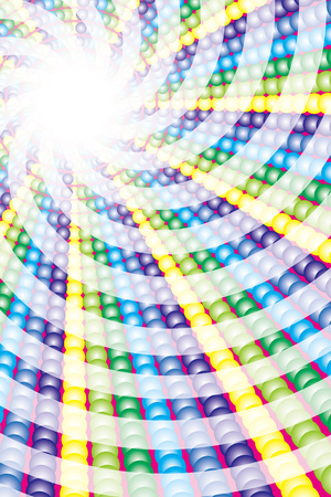 Background material, radiation, concentration line, rainbow, rainbow color, cartoon expression, effect, colorful, helix, swirl, light, glitter, Illustration